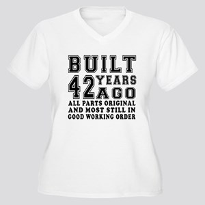 Built 42 Years Women's Plus Size V-Neck T-Shirt