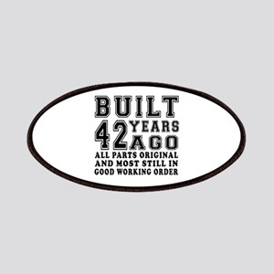 Built 42 Years Patch