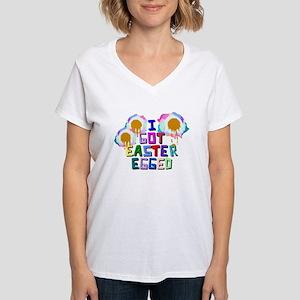I Got Easter Egged Women's V-Neck T-Shirt