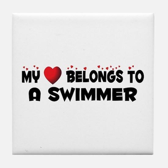 Belongs To A Swimmer Tile Coaster