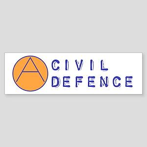 Civil Defence Bumper Sticker