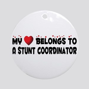 Belongs To A Stunt Coordinator Ornament (Round)