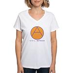 Civil Defence Women's V-Neck T-Shirt