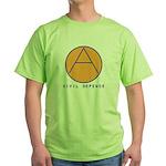 Civil Defence Green T-Shirt