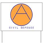 Civil Defence Yard Sign