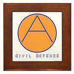 Civil Defence Framed Tile