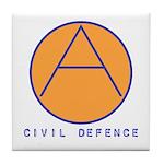 Civil Defence Tile Coaster