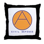 Civil Defence Throw Pillow