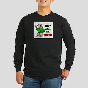 CALL ME CHUCK Long Sleeve Dark T-Shirt