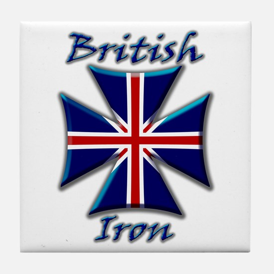 British Iron Maltese Cross  Tile Coaster