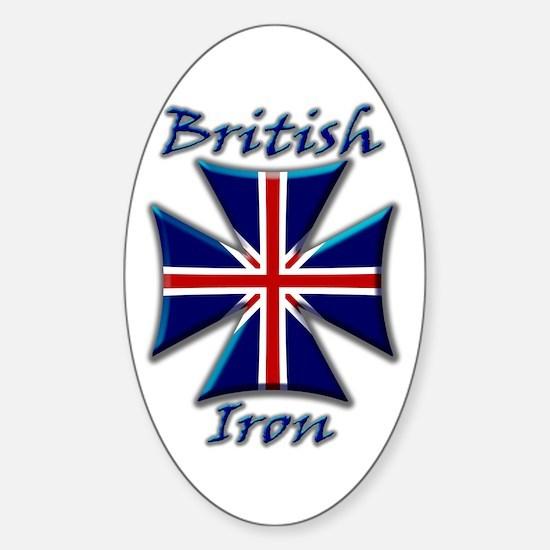 British Iron Maltese Cross Oval Decal