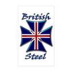 British Steel Maltese Cross Rectangular Sticker