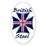 British Steel Maltese Cross Oval Sticker
