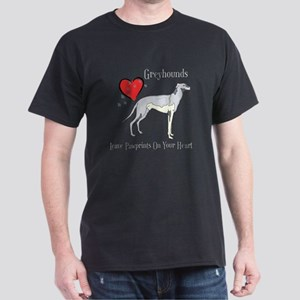 Greyhounds Leave Paw Prints Dark T-Shirt