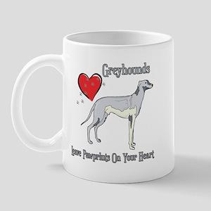 Greyhounds Leave Paw Prints Mug