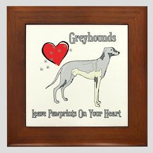 Greyhounds Leave Paw Prints Framed Tile