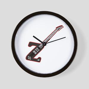Electric Guitar Z Custom Initial Wall Clock