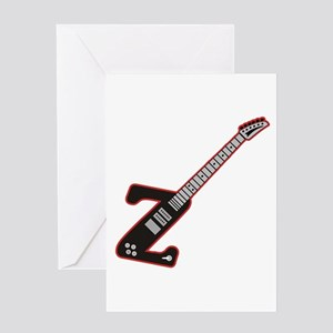 Electric Guitar Z Custom Initial Greeting Card