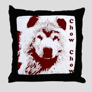 Chowbella! Throw Pillow