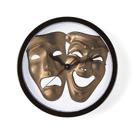Comedy/Tragedy Masks Wall Clock