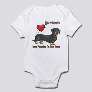Dachshunds Leave Paw Prints Infant Bodysuit