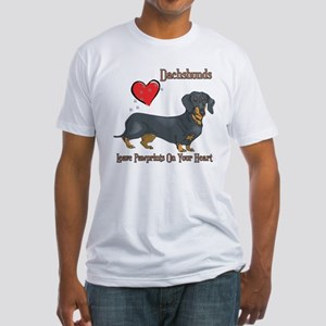 Dachshunds Leave Paw Prints Fitted T-Shirt
