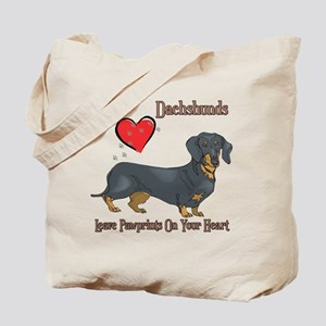 Dachshunds Leave Paw Prints Tote Bag