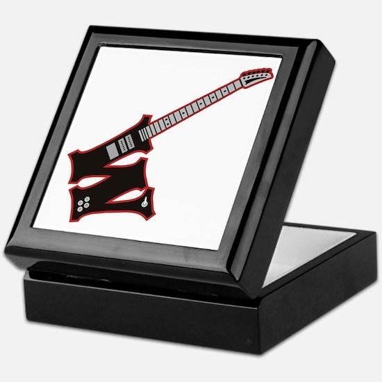 Electric Guitar W Custom Initial Keepsake Box