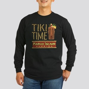 Marco Island Tiki Time - Long Sleeve Dark T-Shirt