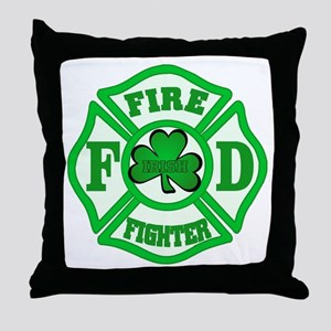 Irish Fire Fighter Throw Pillow