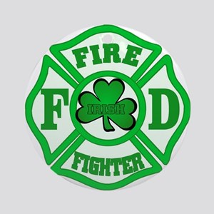 Irish Fire Fighter Ornament (Round)
