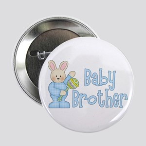 """Bunny Baby Brother Rattle 2.25"""" Button"""
