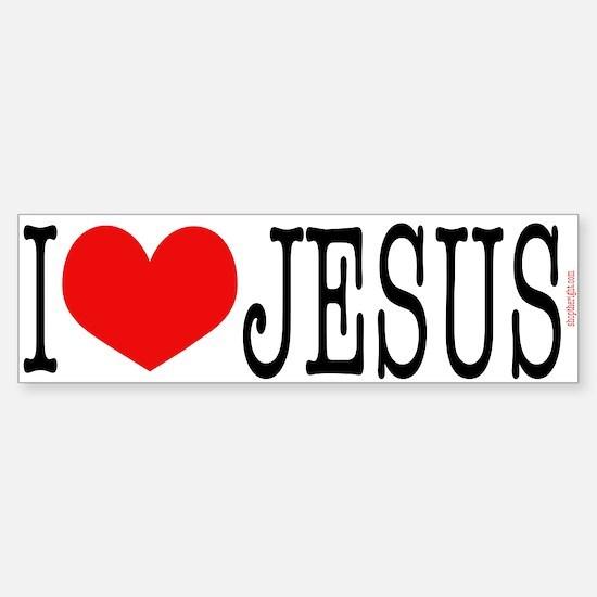 I Love Jesus Bumpersticker
