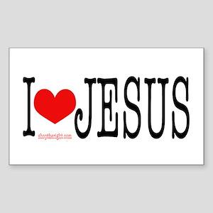 I Love Jesus Rectangle Sticker