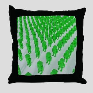 Green plastic Throw Pillow