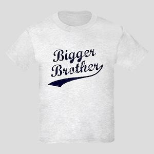 Bigger Brother (Blue Text) Kids Light T-Shirt