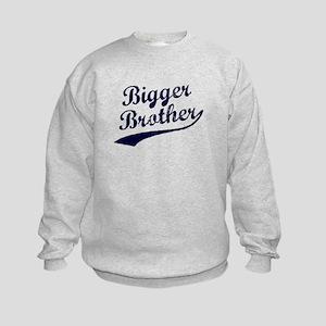 Bigger Brother (Blue Text) Kids Sweatshirt