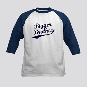 Bigger Brother (Blue Text) Kids Baseball Jersey