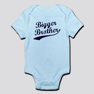 Bigger Brother (Blue Text) Infant Bodysuit