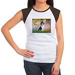 Garden / Collie Women's Cap Sleeve T-Shirt