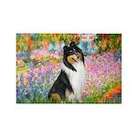 Garden / Collie Rectangle Magnet (10 pack)