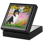 Garden / Collie Keepsake Box