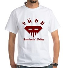Speed-metal Ruby White T-Shirt