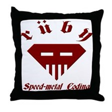 Speed-metal Ruby Throw Pillow