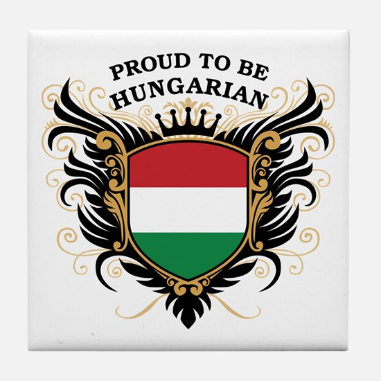 Proud to be Hungarian Tile Coaster