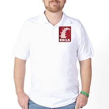 rails_t-shirt Golf Shirt