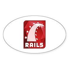 Ruby on Rails Oval Sticker