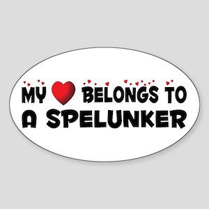 Belongs To A Spelunker Oval Sticker