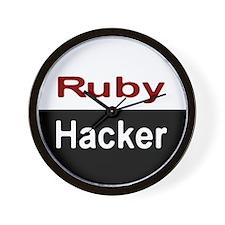 Ruby hacker Wall Clock