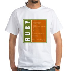Use Ruby, be happy! White T-Shirt